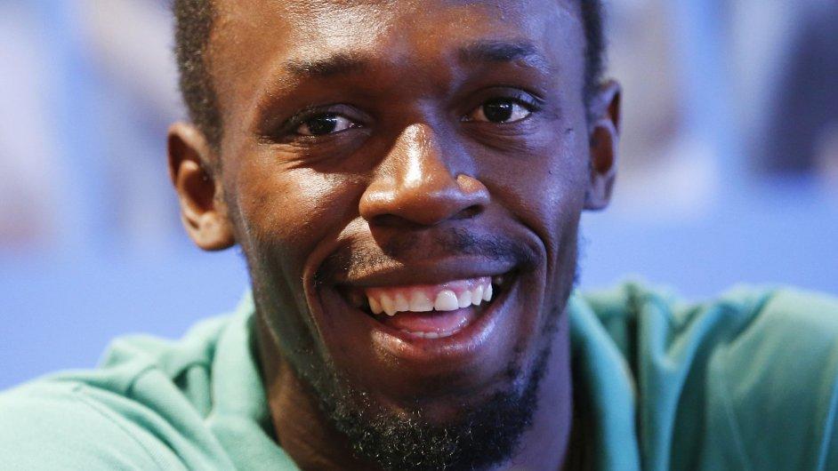 Nejrychlejší muž planety Usain Bolt na atletickém mítinku v Bruselu.