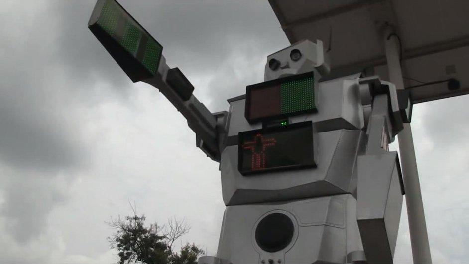 V Kinshase řídí dopravu roboti.