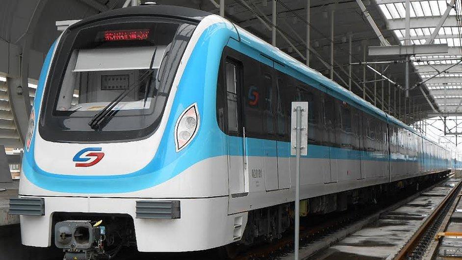Metro v čínském městě Su-čou