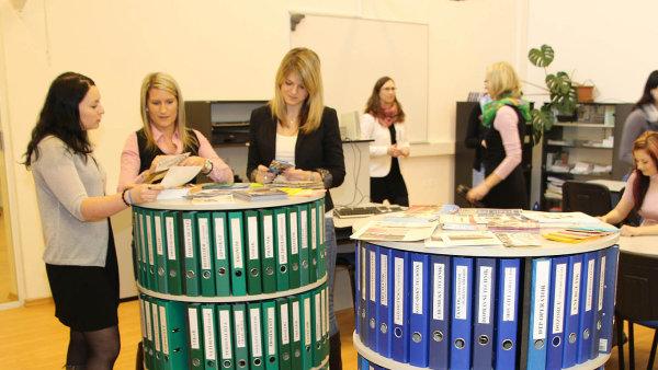 V Informačních a poradenských střediscích úřadů práce získávají žáci a studenti informace o jednotlivých povoláních a o studiu.
