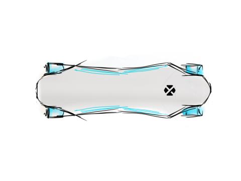 Elektrický skateboard - náčrt