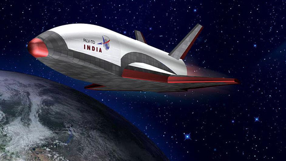 Vizualizace indického raketoplánu RLVTD.
