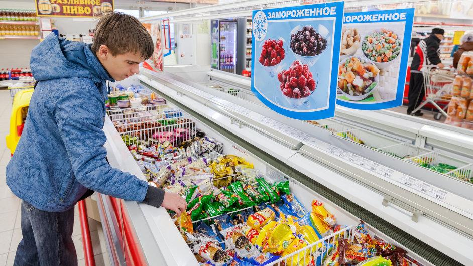 Rusko Potraviny Zboží Obchod Embargo Sankce