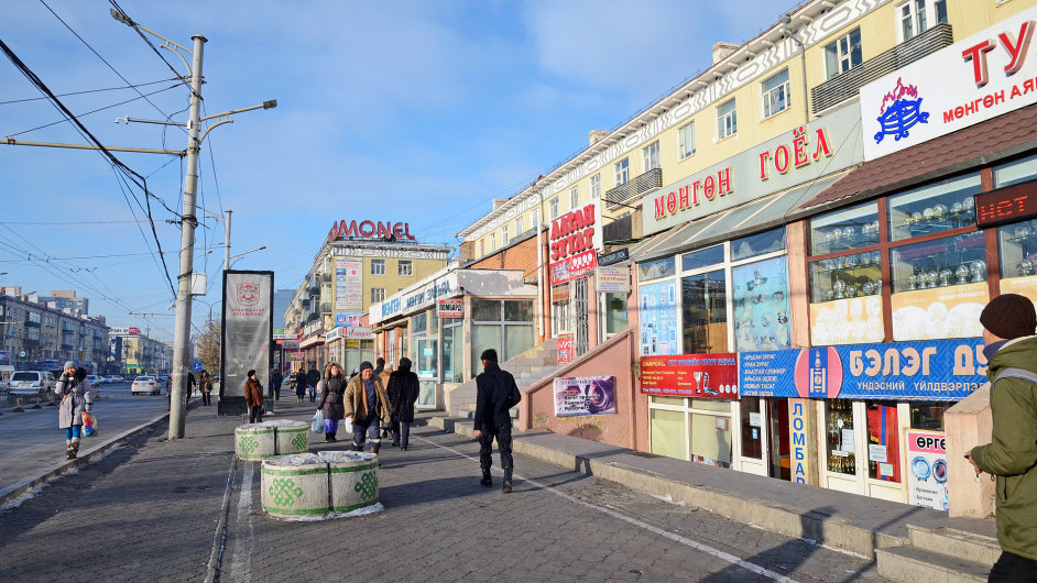 Ulánbátar v zimě, Mongolsko
