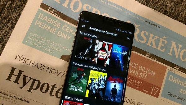Netflix umožnil stahování obsahu do mobilních zařízení.