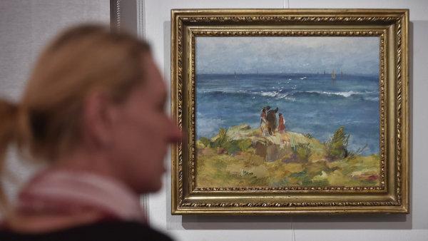 Snímek z výstavy Oldřicha Blažíčka