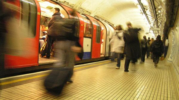 Londýnské metro - Ilustrační foto.