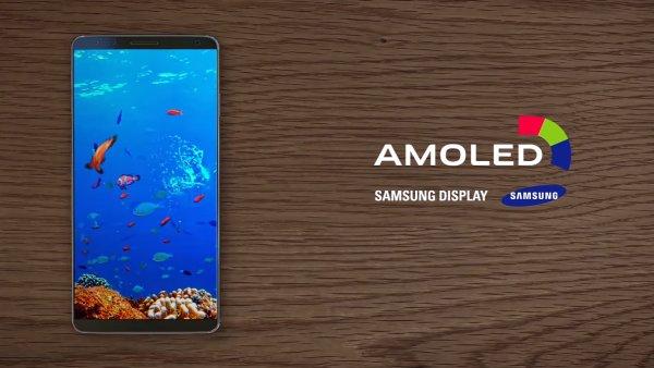 Potenciální design Galaxy S8 v reklamě na OLED panely Samsung
