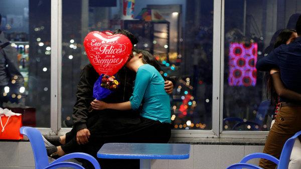 Zamilovaný pár v Mexico City
