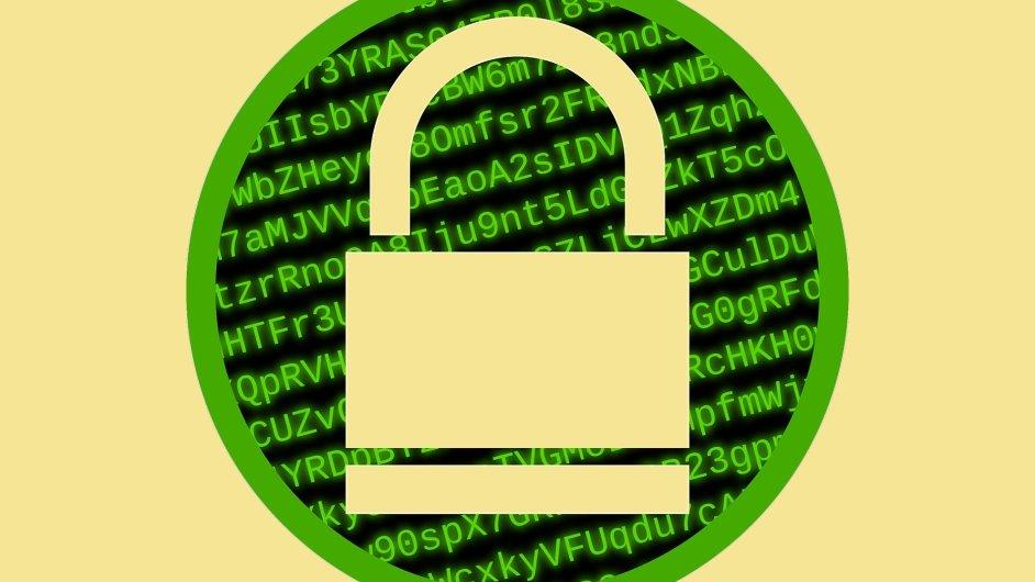 Bezpečná data, šifrování, ilustrace