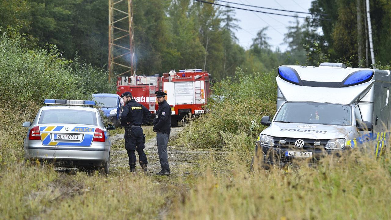 Policie, hasiči, nehoda