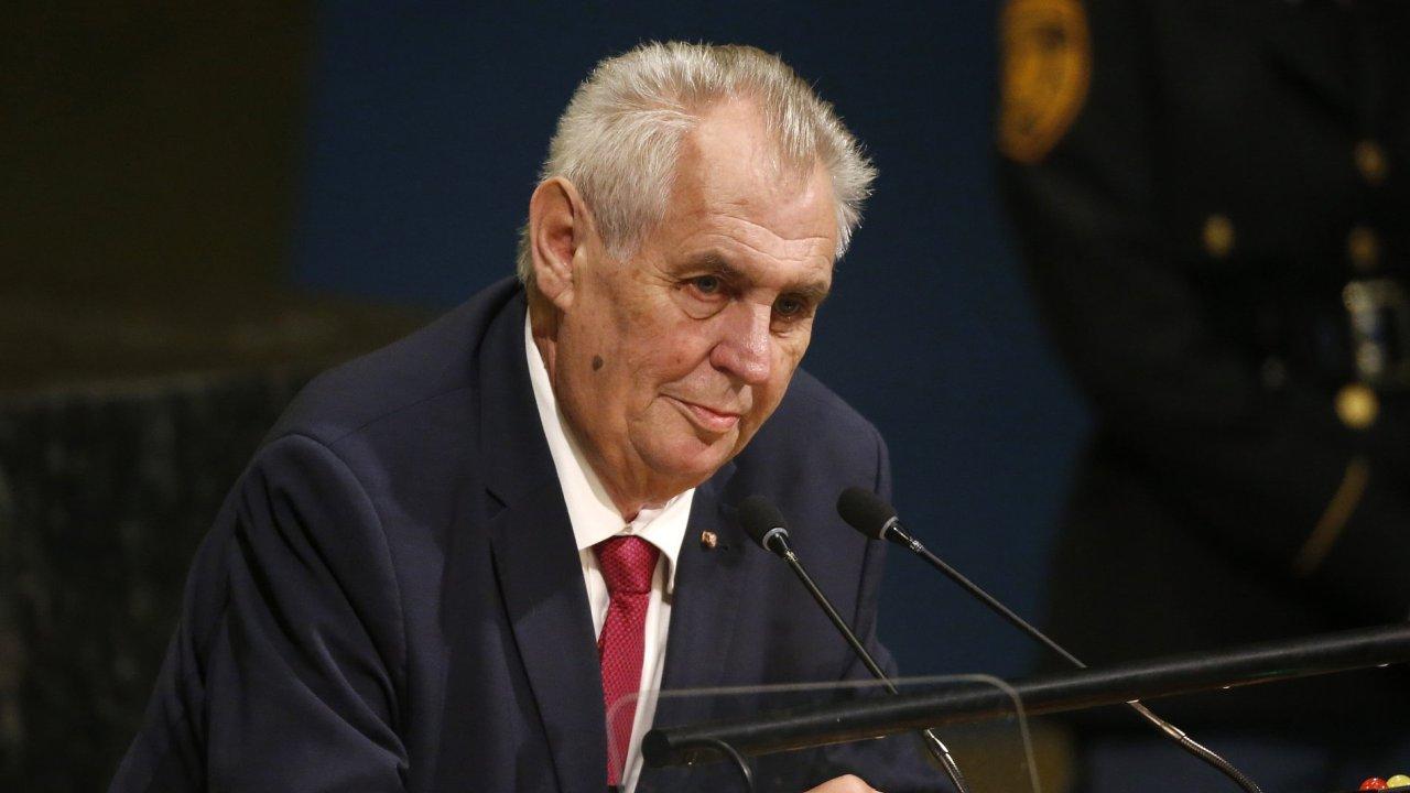 Prezident Miloš Zeman vystoupil před Valným shromážděním OSN.