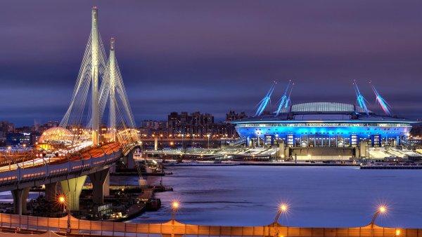 Stadion mistrovství světa ve fotbale 2018 v Petrohradu