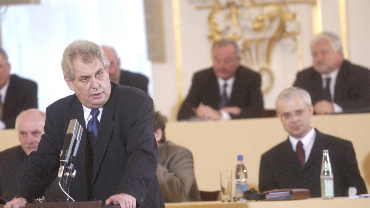 Někdejší premiér a předseda ČSSD Miloš Zeman
