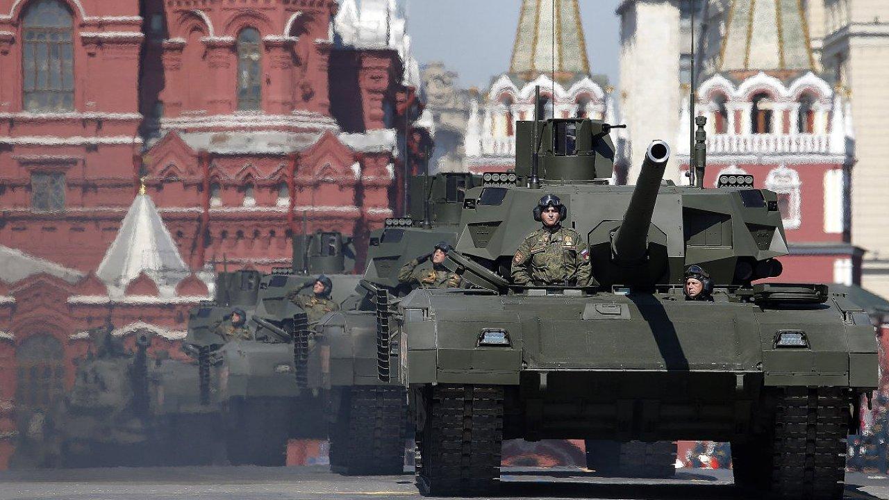 Moskva, Rusko, ruská armáda, tanky