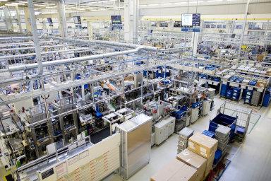 Německý strojírenský a elektrotechnický koncern Bosch v Českých Budějovicích.