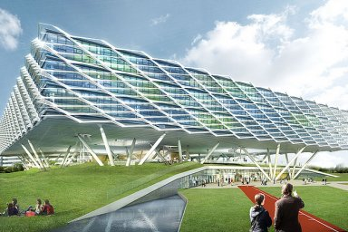 Adidas slaví 70 let. Pro zaměstnance postavil čtyřpatrový stadion.