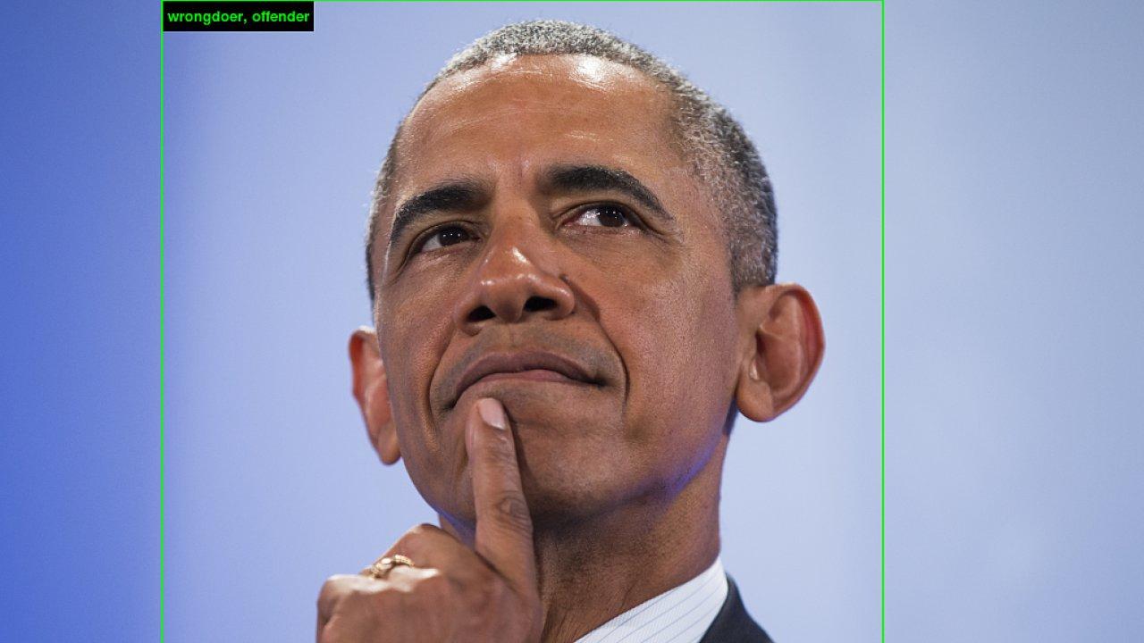 Na tomto snímku bývalého amerického prezidenta Barracka Obamu program označil za