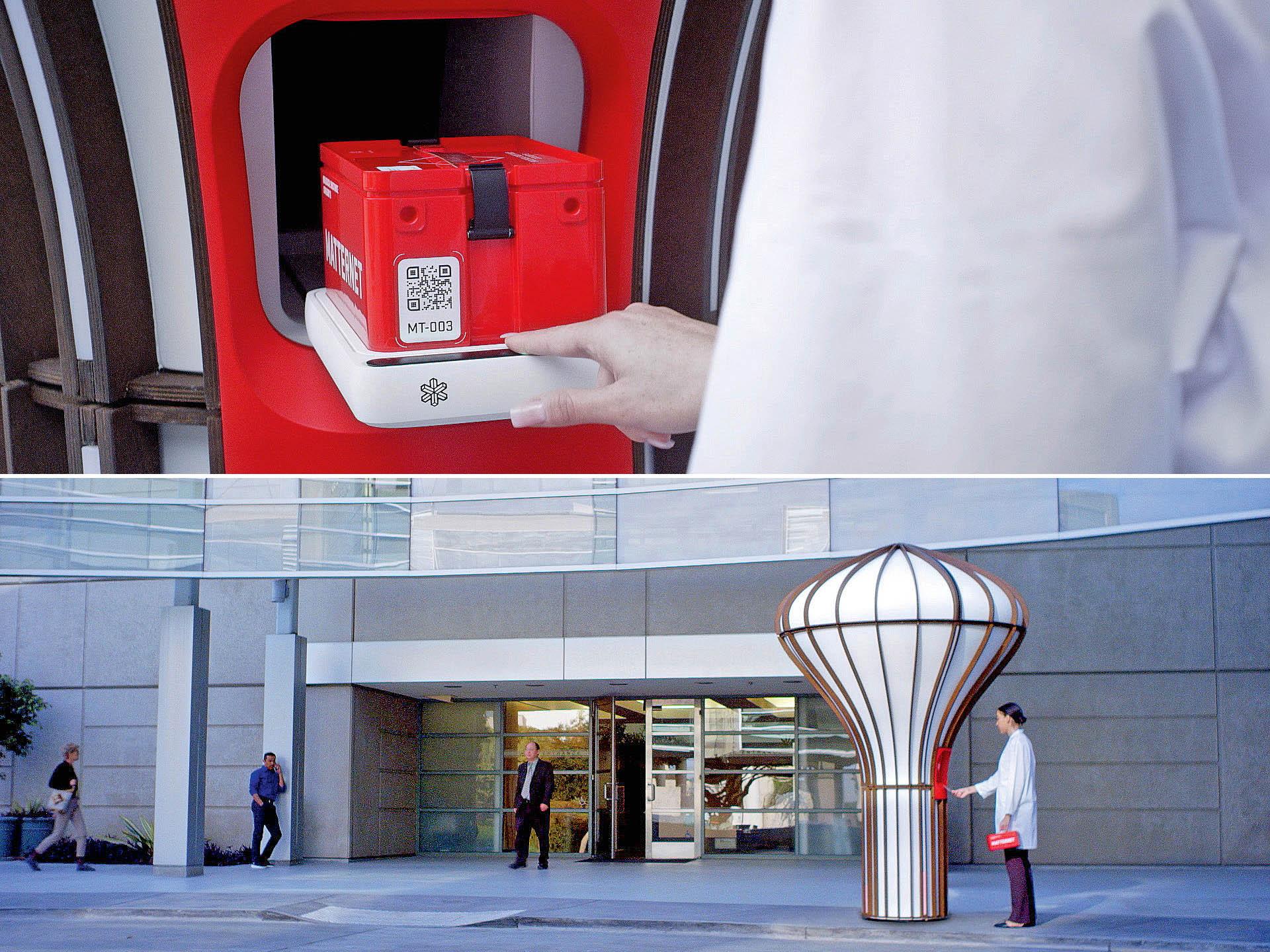 Startovací apřistávací stanice se mají instalovat ukaždé nemocnice využívající sítě kvadrokoptér kpřepravě urgentních zásilek.