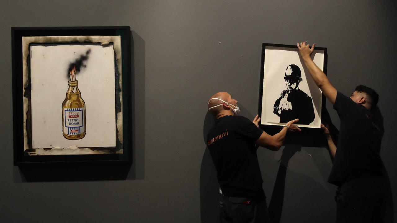 Výstavu 80 děl britského umělce Banksyho, která vytvořil vletech 2001 až 2017, zpřístupní veřejnosti ode dneška vChiostro del Bramante .