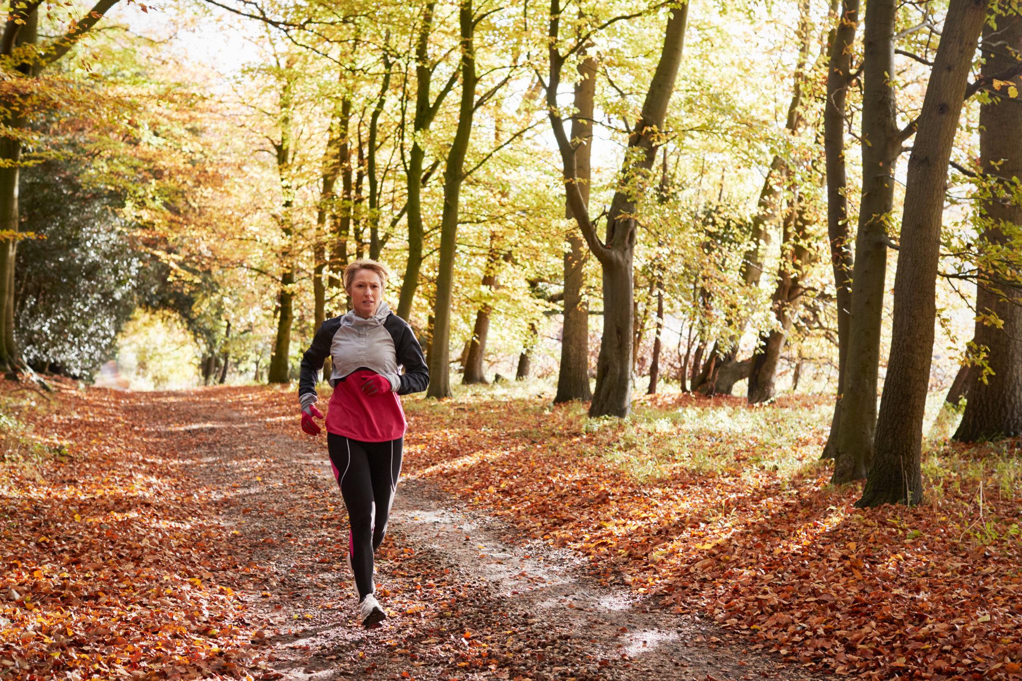 podzim, běhání