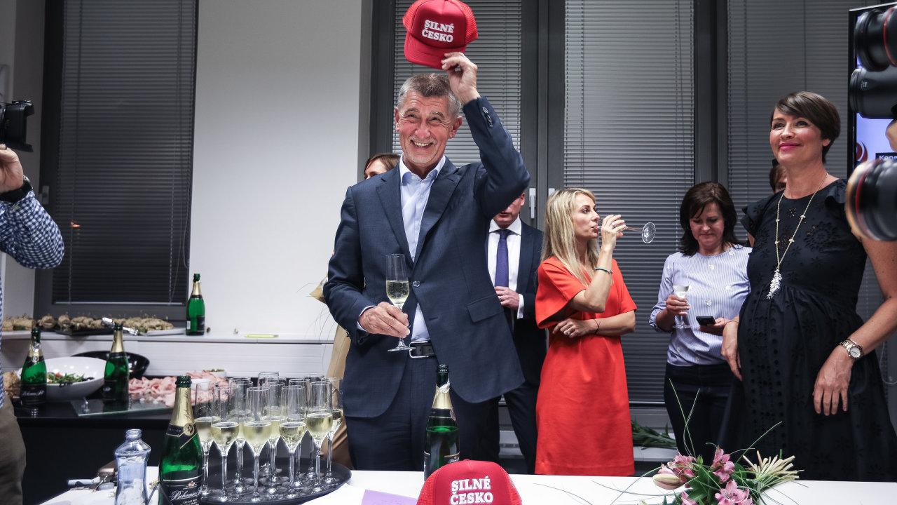 Andrej Babiš Silné Česko kšiltovka kampaň