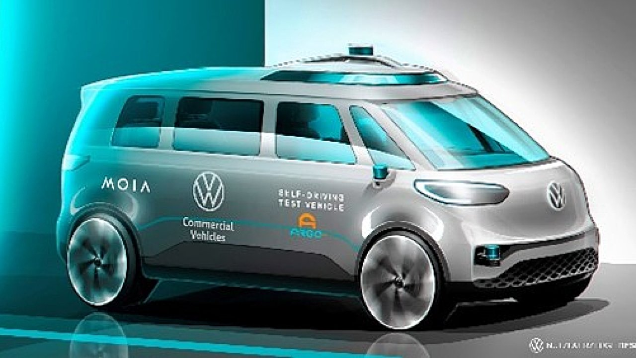 Nové autonomní vozidlo Volkswagen ID. Buzz.