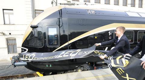 LEO Express představil v Praze svůj vlak