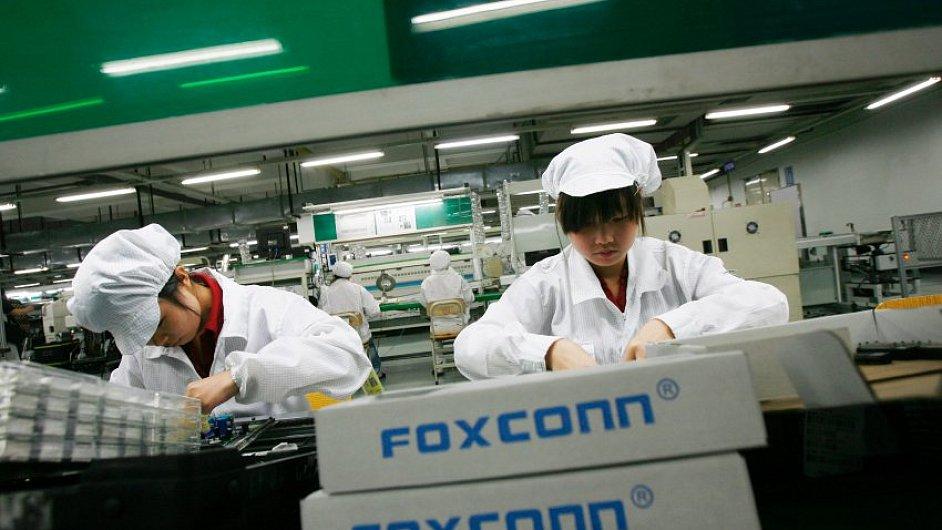 Uvnitř čínské továrny Foxconn. Ilustrační foto