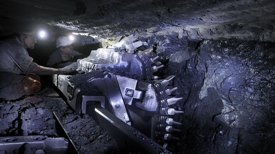 Těžba černého uhlí v dole OKD - Ilustrační foto