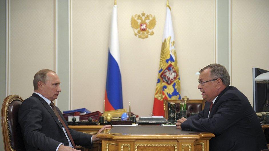 Andrej Kostin se na konci září sešel s prezidentem Vladimirem Putinem.