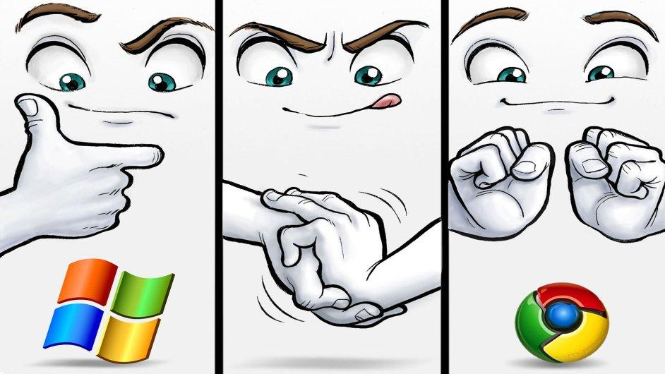 Grafika Google vs. Microsoft