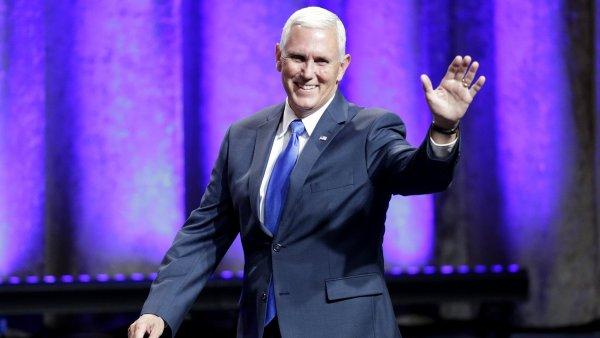 Kandidát na viceprezidenta Mike Pence, který by byl po boku Donalda Trumpa v případě jeho úspěchu ve volbách.