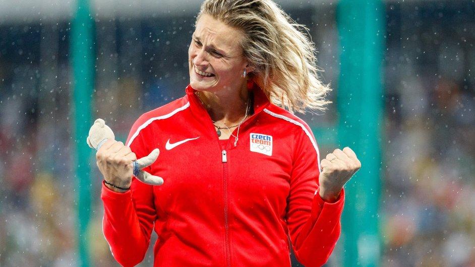 Barbora Špotáková vybojovala třetí olympijskou medaili v řadě.