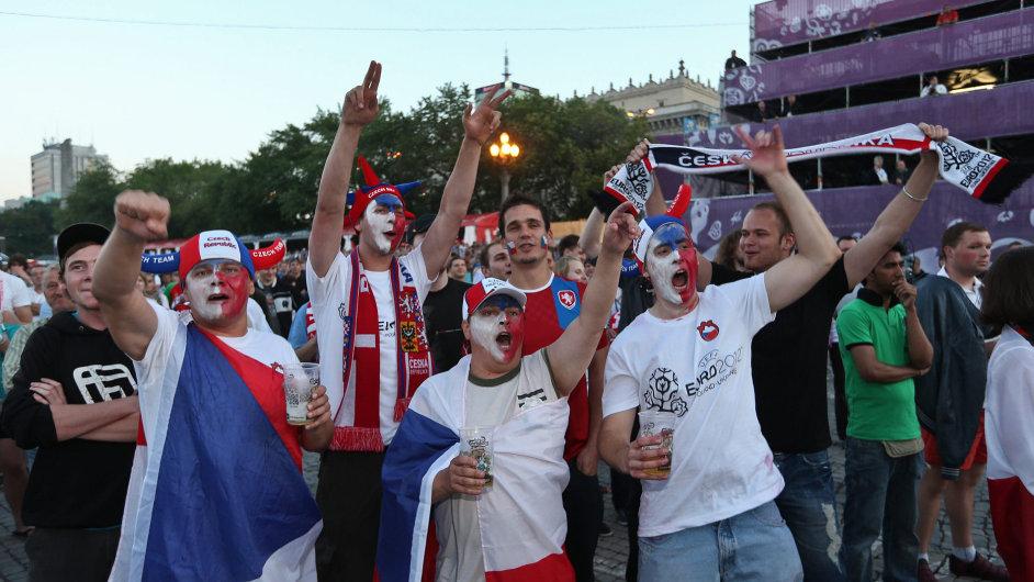 Čeští fanoušci národnímu týmu na mistrovství Evropy věřili
