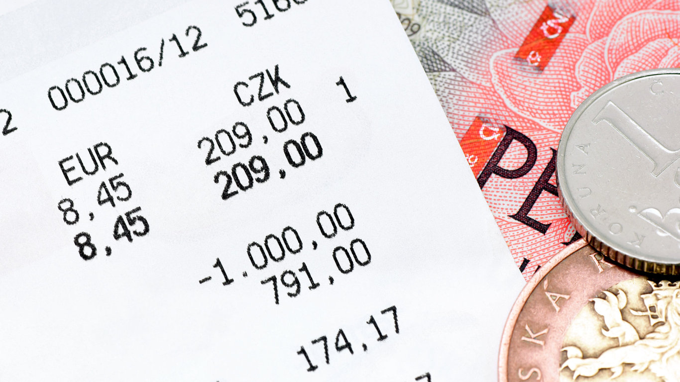 Účtenka účtenky loterie peníze koruna koruny dluhy půjčka