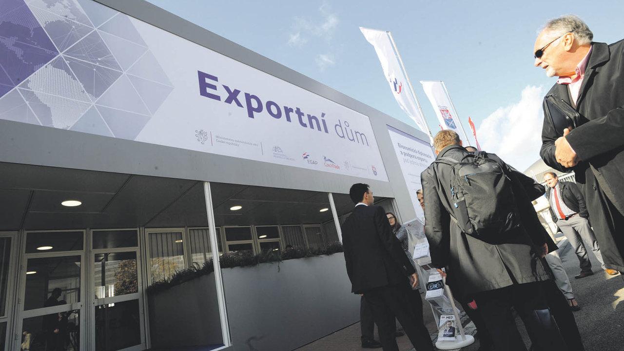 Exportní dům čeká na návštěvníky v centrální pozici mezi pavilony P a Z.