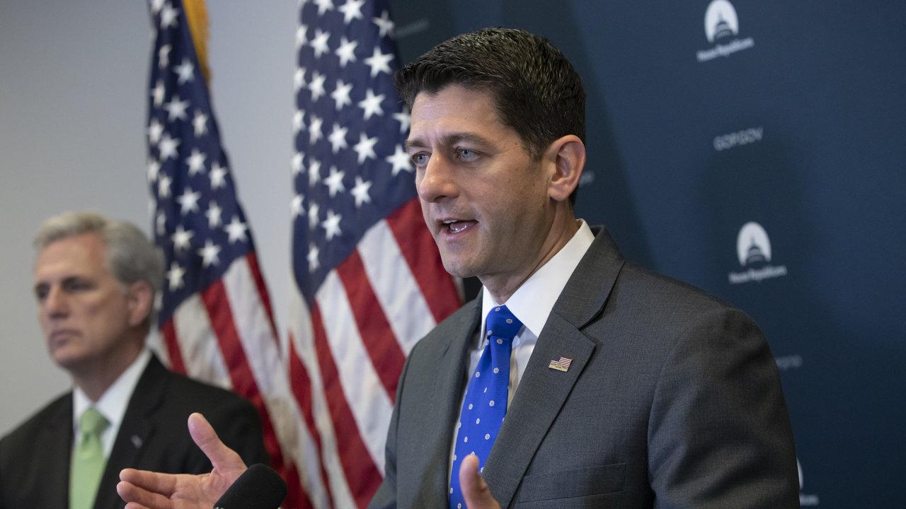 Předseda Sněmovny reprezentantů z Republikánské strany Paul Ryan.