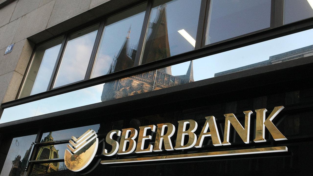 Pobočka ruské banky Sberbank v Praze v ulici Na Příkopě