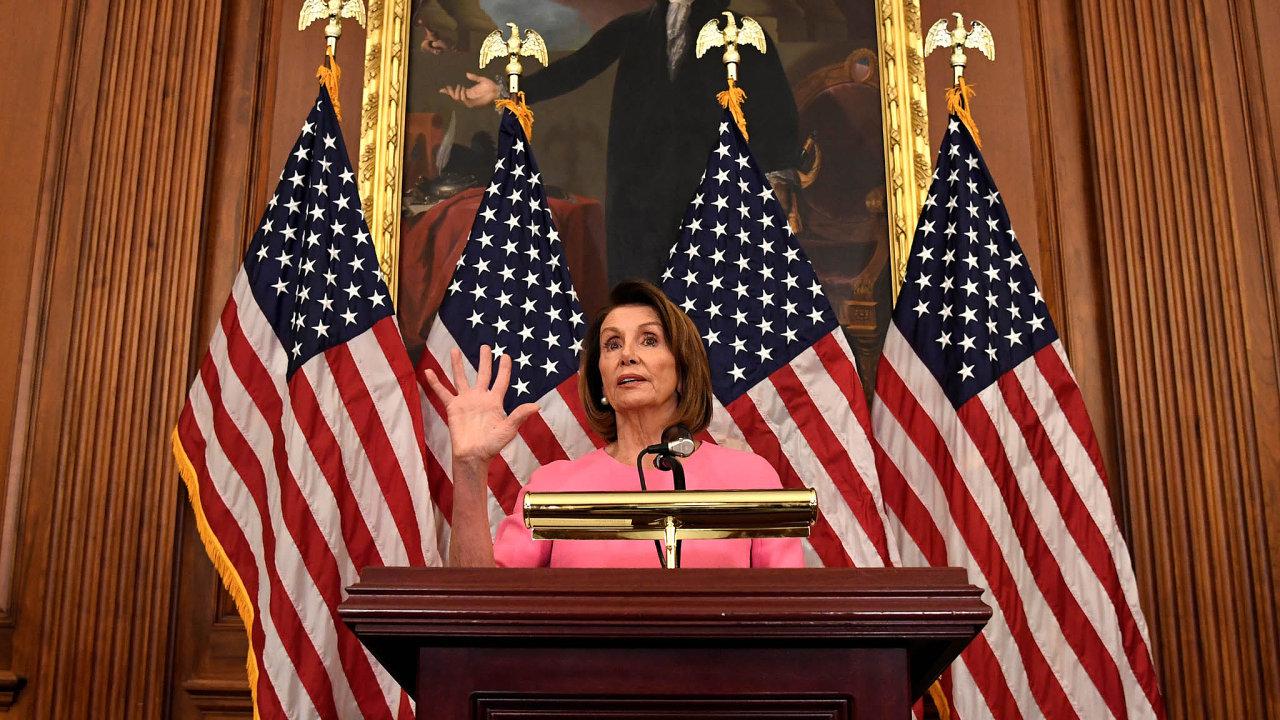 Nejmocnější americká politička současnosti Nancy Pelosiová.