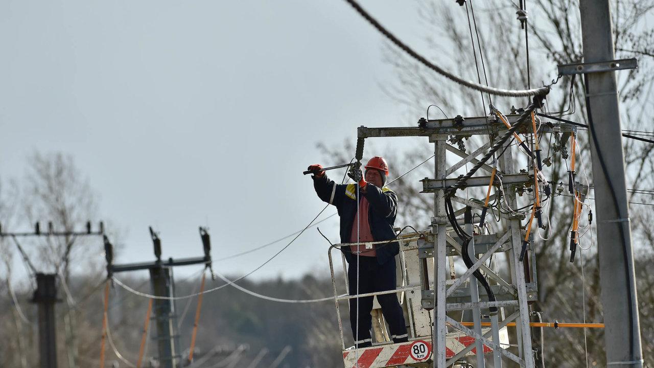 Nejčastější příčinou poruch byl silný vítr lámající stromy a větve, které padaly na vedení.