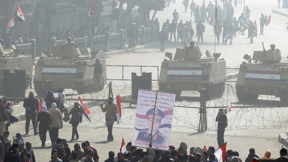 Krvavé výročí Mubárakova pádu