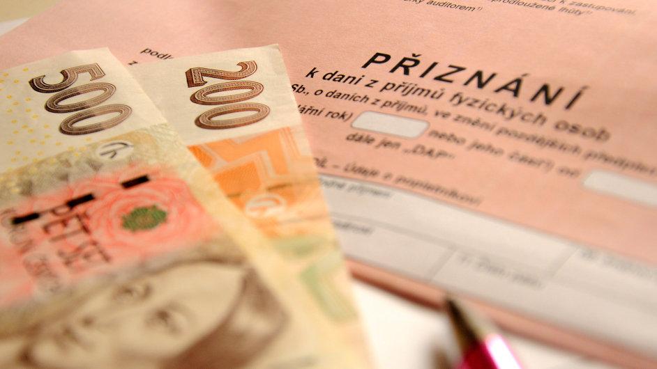 Daňové přiznání, ilustrační foto