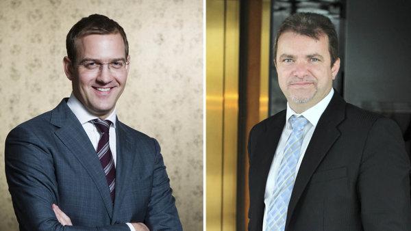 Daniel Křetínský (vlevo) a Patrik Tkáč převezmou část vydavatelství Mladá fronta.