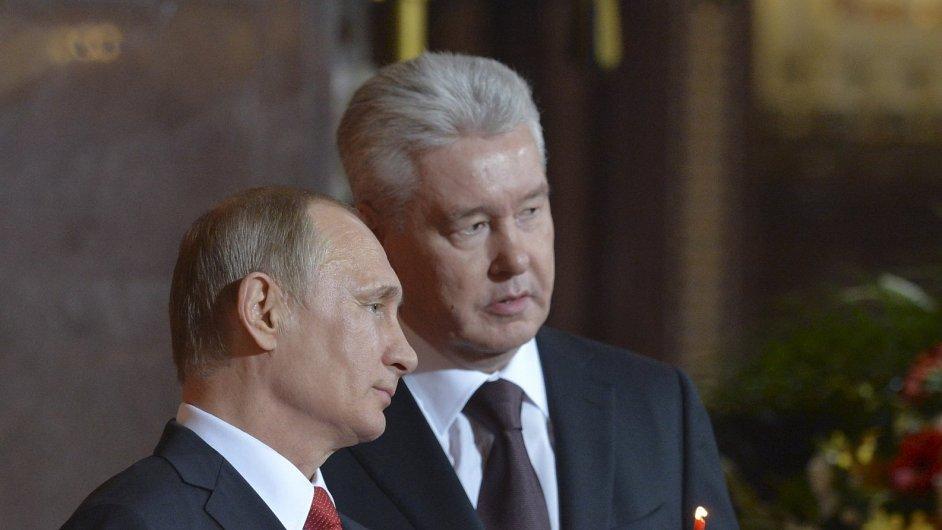 Vladimir Putin a Sergej Sobjanin