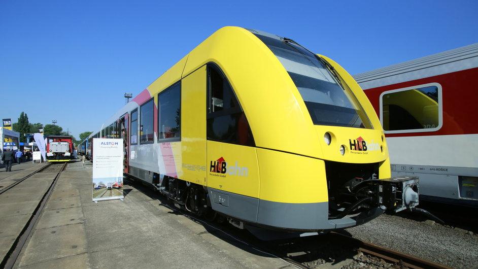 Alstom LINT 41 na Mezinárodním veletrhu drážní techniky v Ostravě