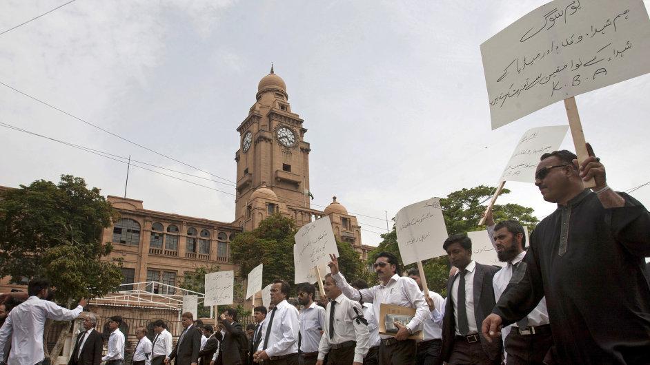Pákistánští právníci protestují proti výbuchu v Balúčistánu