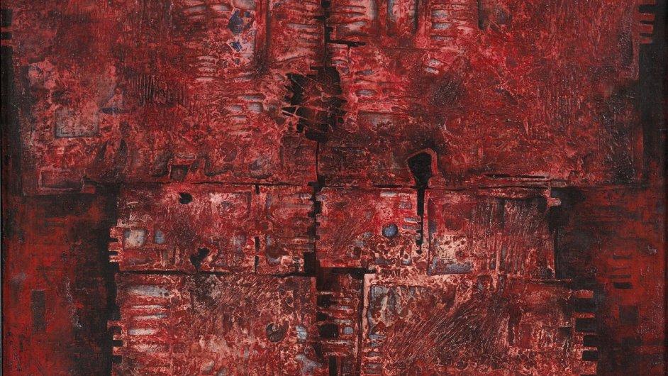 Korálový obraz patří do sbírky kutnohorské galerie GASK.