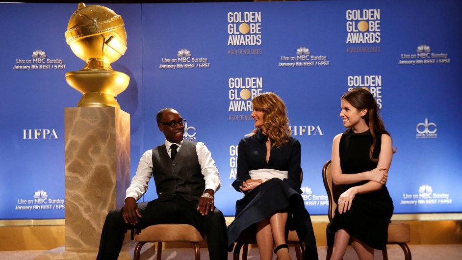 Nominace na Zlaté glóby v pondělí oznámili herci Don Cheadle, Laura Dernová a Anna Kendricková.