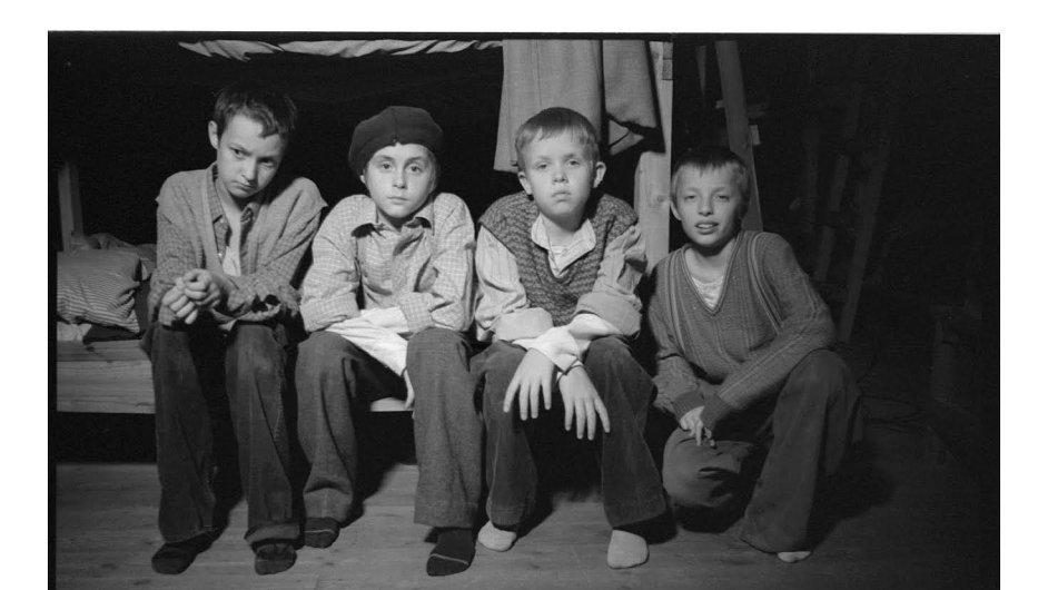 Snímek z filmu Děti Antonína Kaliny.